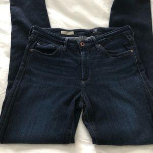 AG Mid Rise Cigarette Jeans